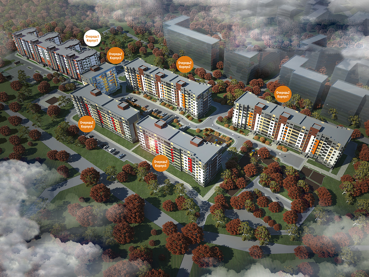 План жилого комплекса ЖК Рябиновый сад
