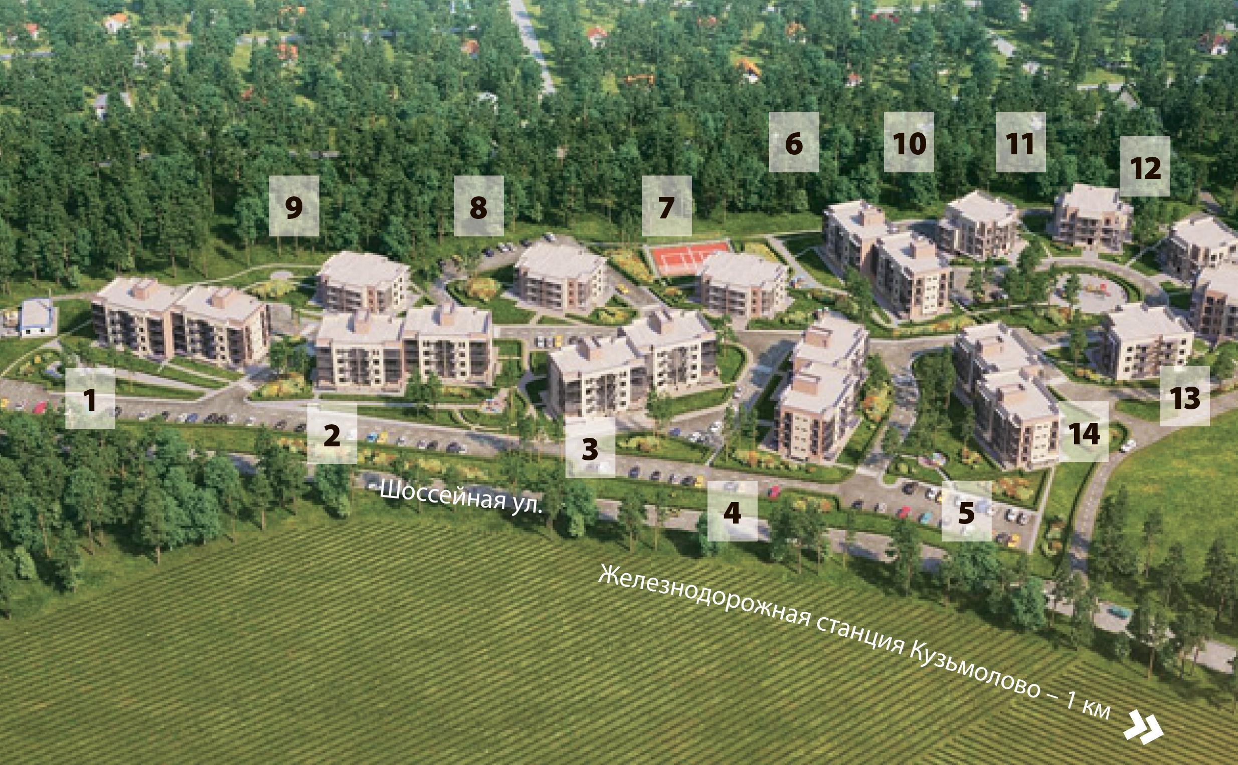 План жилого комплекса ЖК Горки Парк