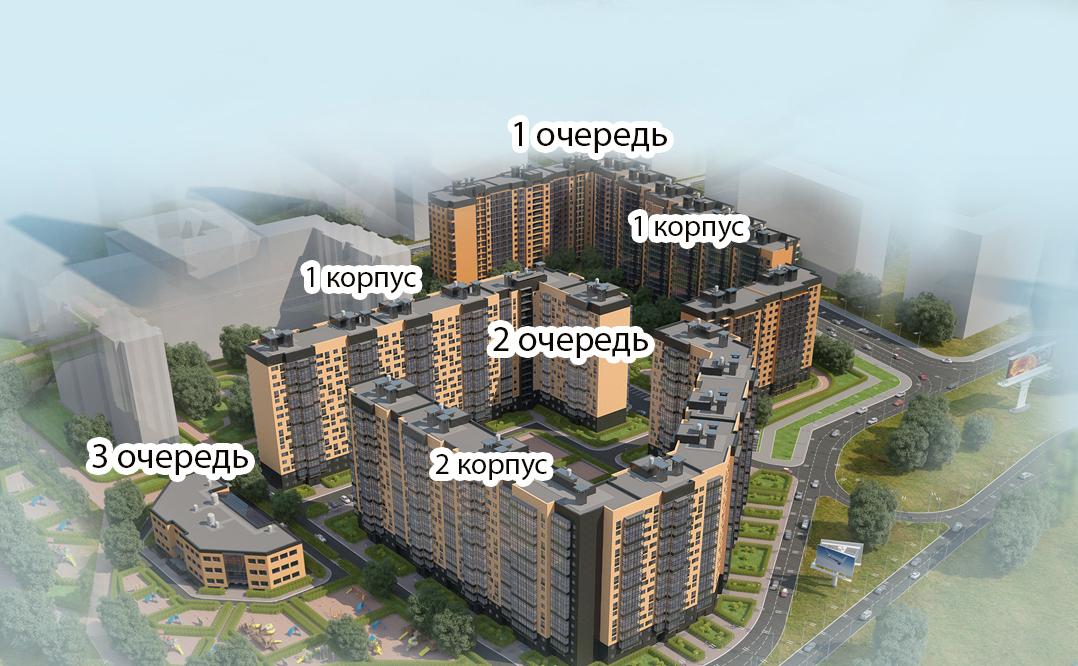 План жилого комплекса ЖК Ленинградская перспектива