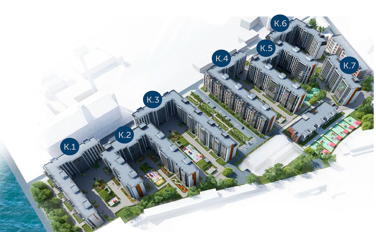 План жилого комплекса ЖК Притяжение