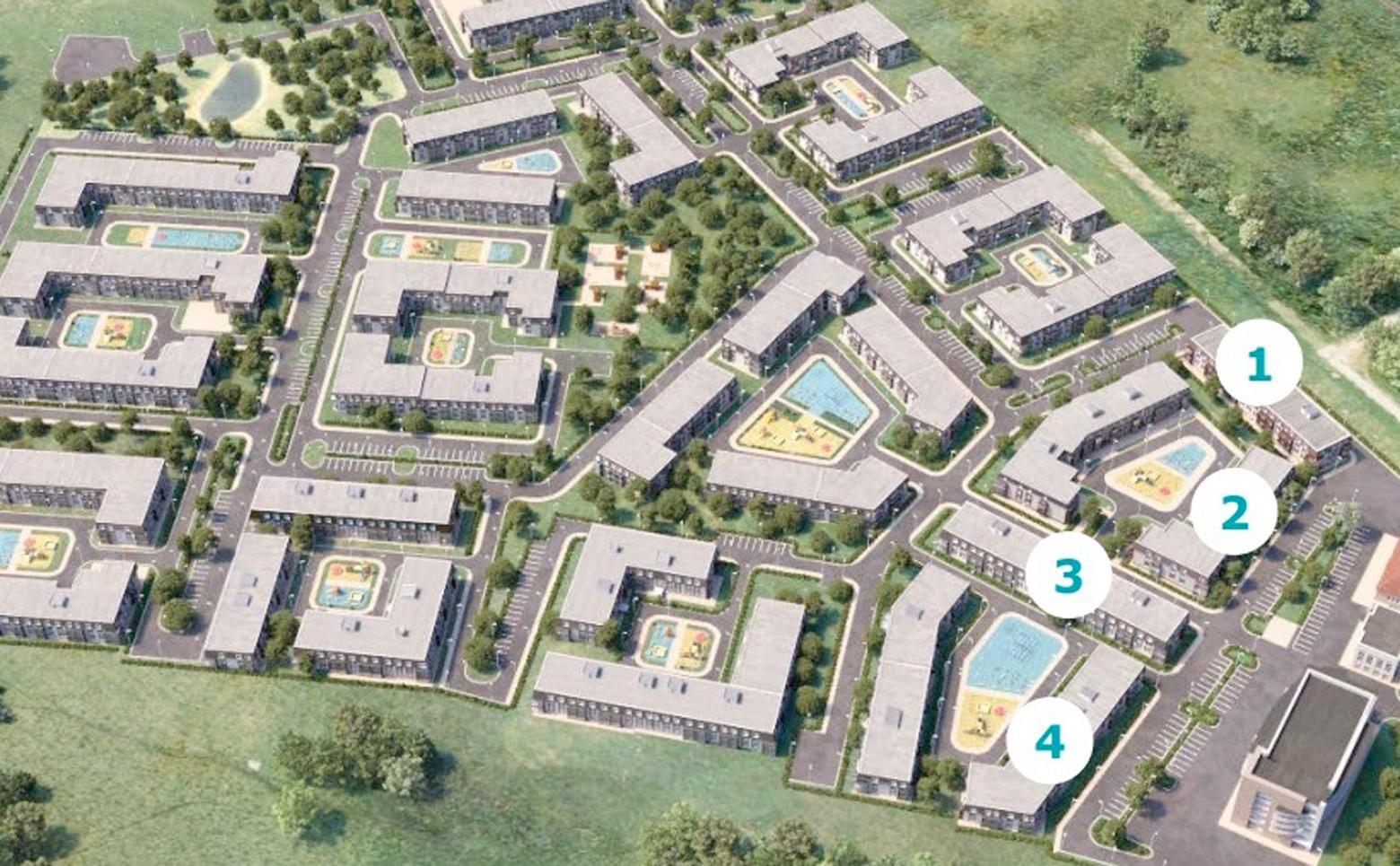 План жилого комплекса ЖК Ижора Сити