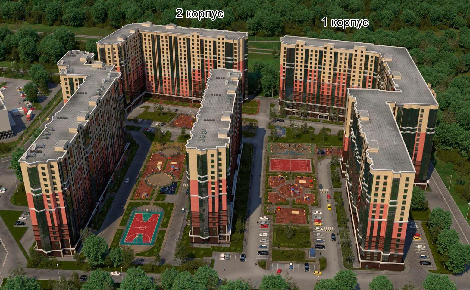 План жилого комплекса ЖК Две столицы