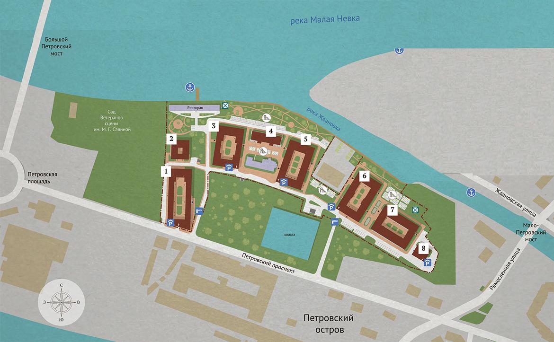 План жилого комплекса ЖК Neva Haus