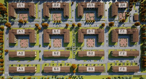 План жилого комплекса ЖК Щегловская усадьба