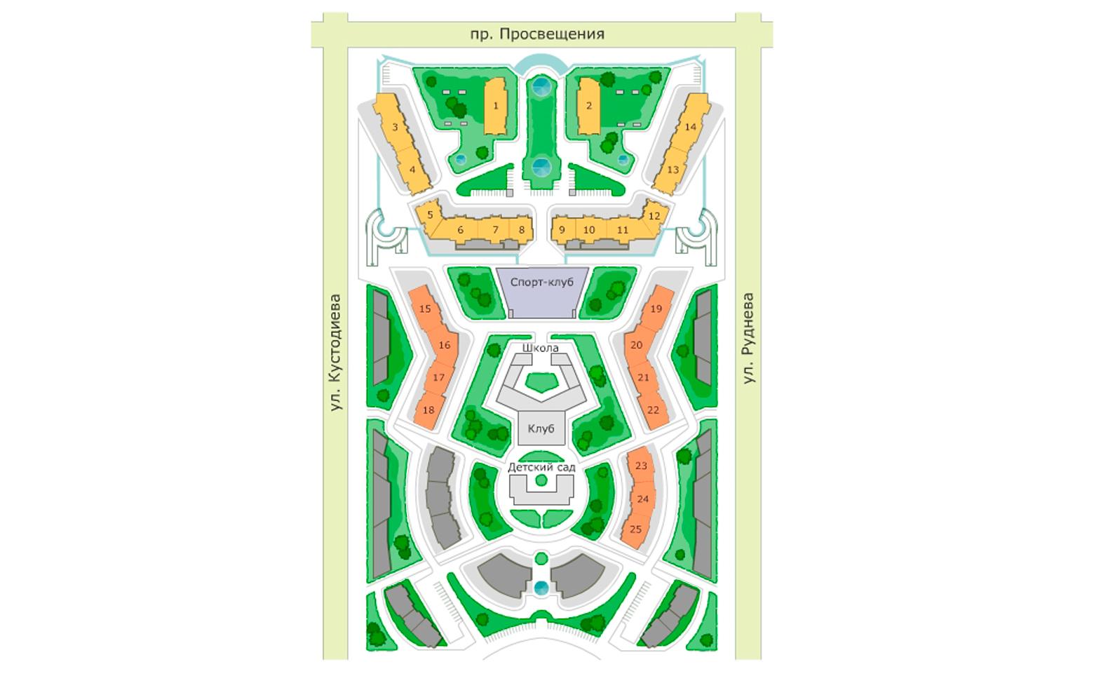 План жилого комплекса ЖК Лондон Парк