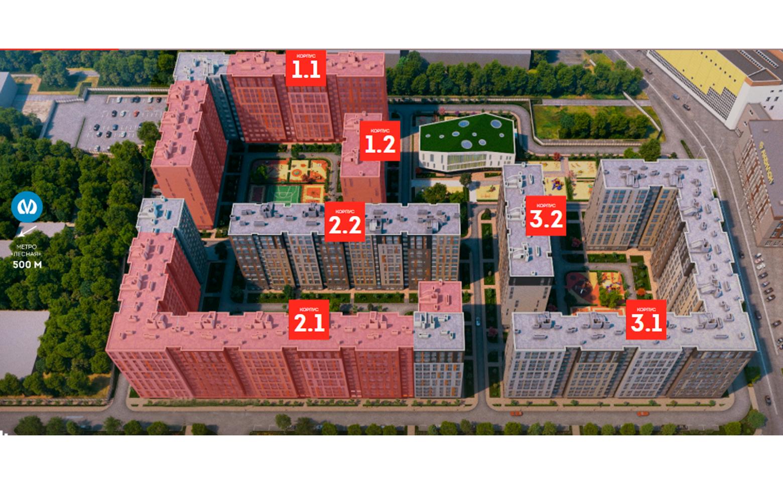 План жилого комплекса ЖК Life Лесная