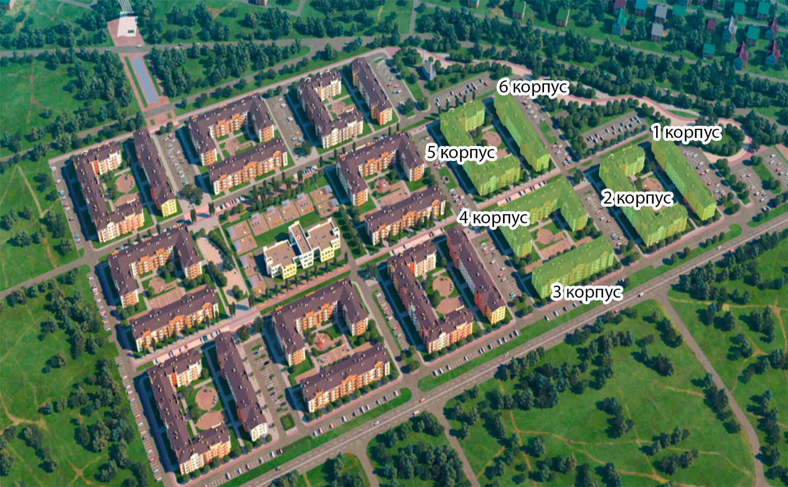 План жилого комплекса ЖК Итальянский квартал