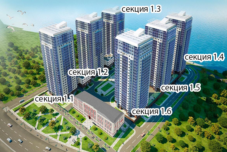 План жилого комплекса ЖК Речной