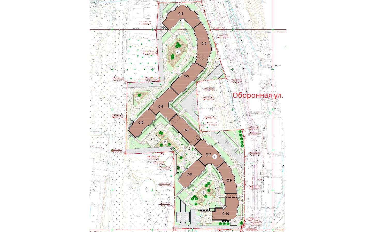 План жилого комплекса ЖК Старая крепость