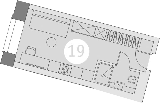 Студия, 18.91 м²
