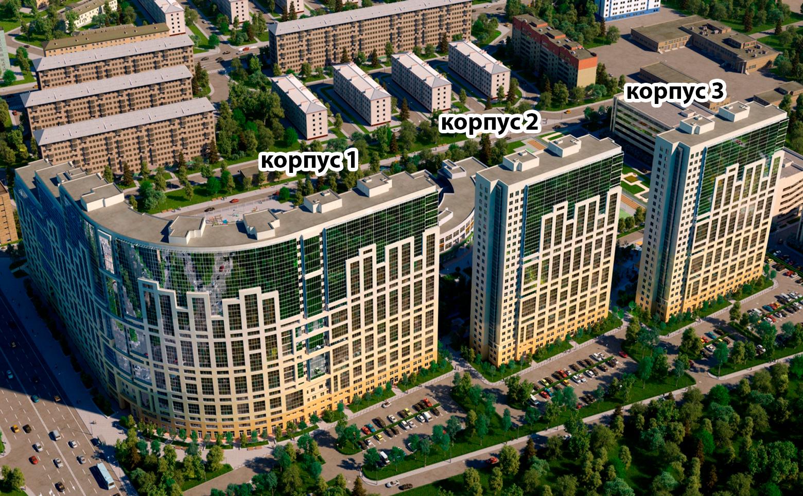 План жилого комплекса ЖК Green City