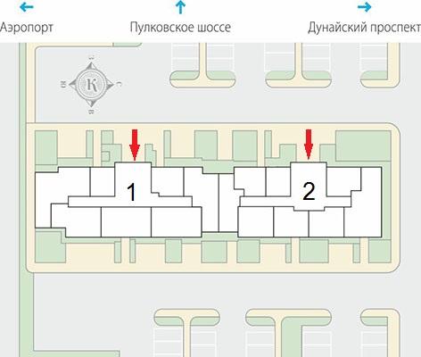 План жилого комплекса ЖК Крылья
