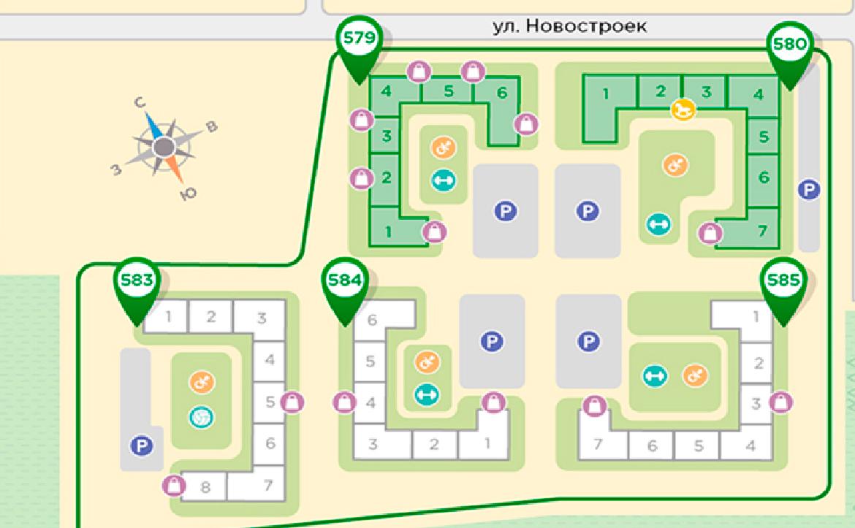 План жилого комплекса ЖК Живи! В Курортном