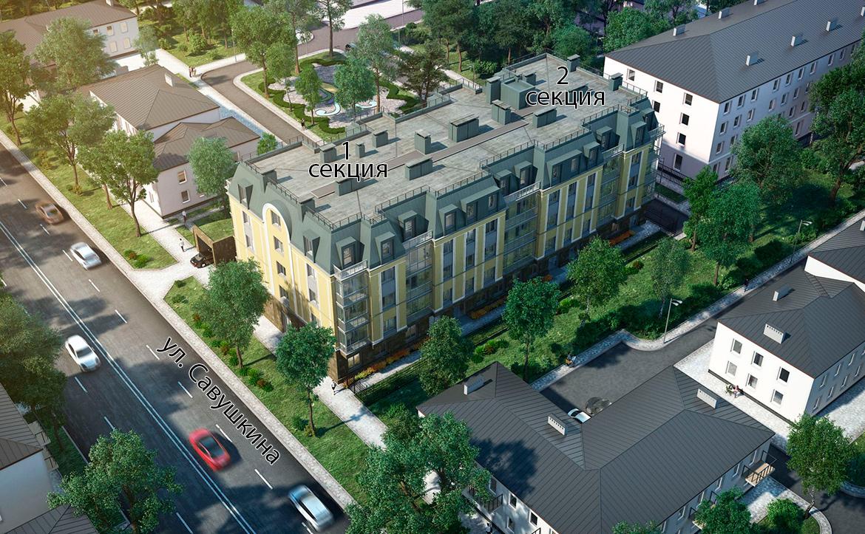 План жилого комплекса ЖК Авиатор