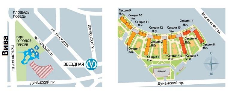 План жилого комплекса ЖК Viva