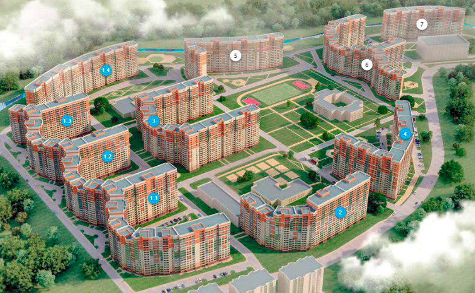 План жилого комплекса ЖК Муринский посад