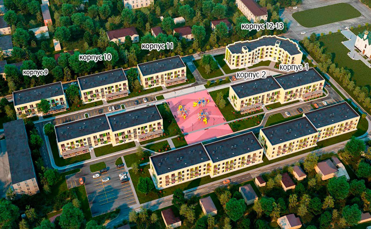 План жилого комплекса ЖК Дубровка на Неве