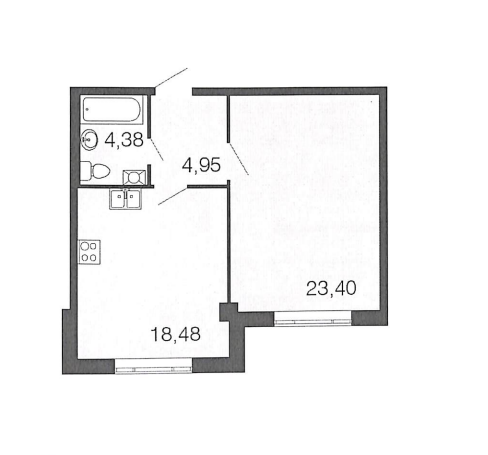 1-к.кв, 51.21 м²