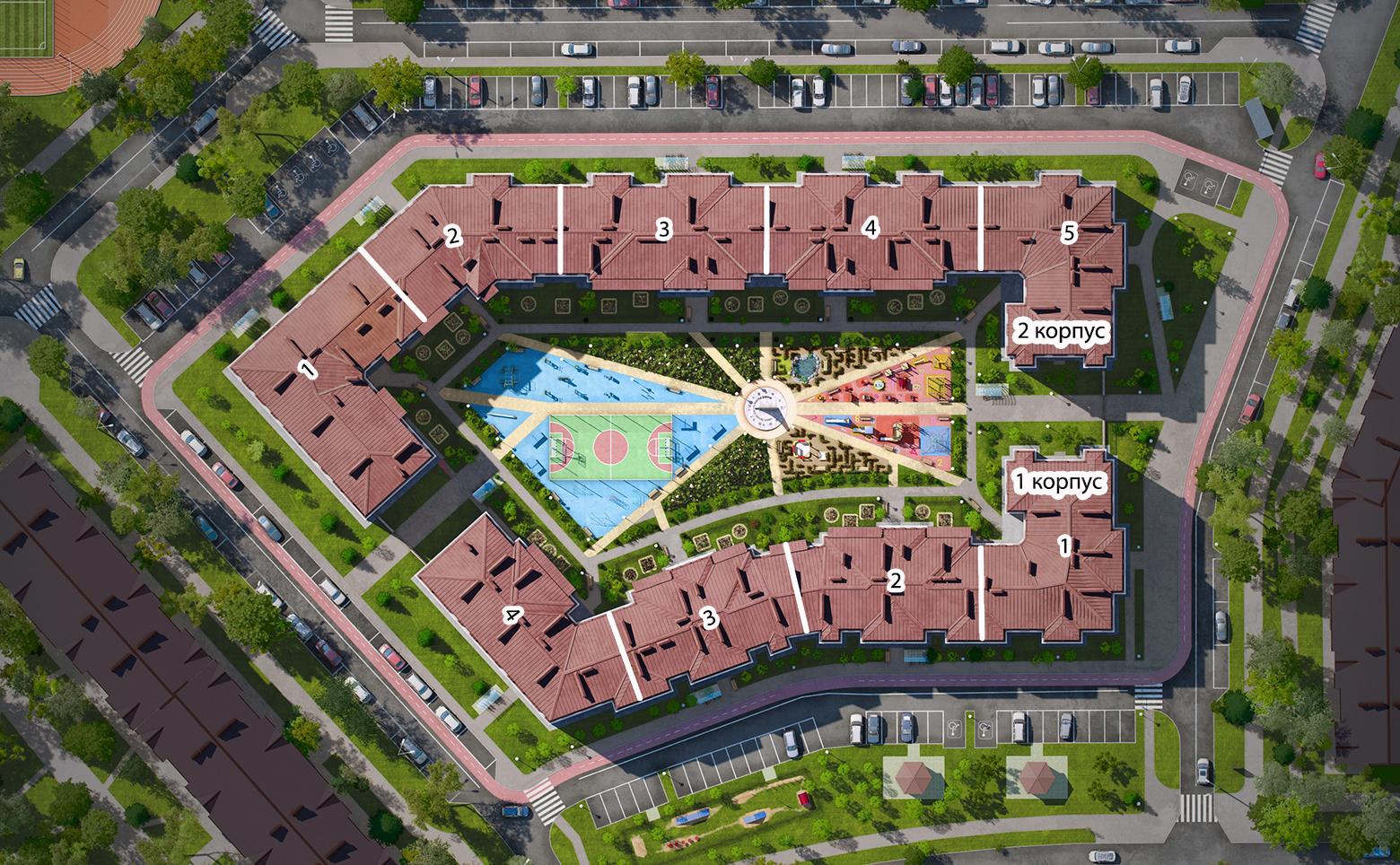 План жилого комплекса ЖК СолнцеPark