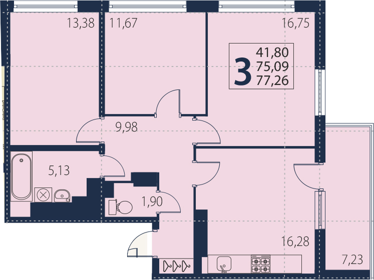 4-к.кв (евро), 82.32 м²