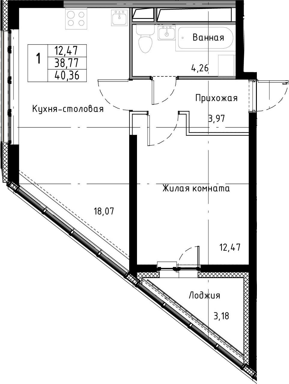 2-к.кв (евро), 41.95 м²
