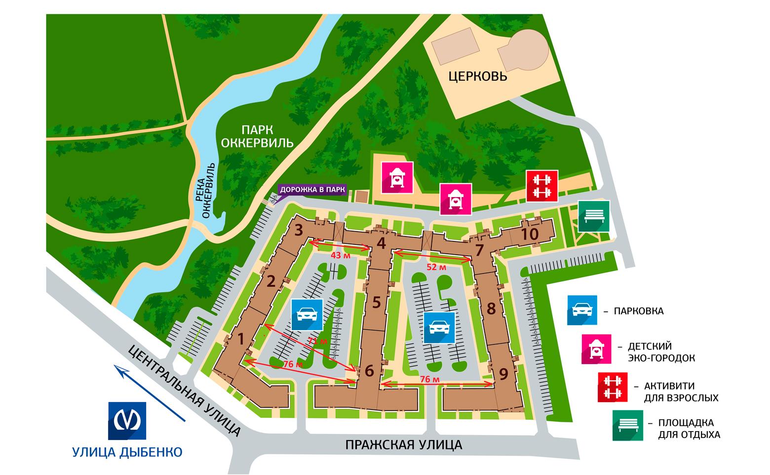 План жилого комплекса ЖК ПаркЛэнд