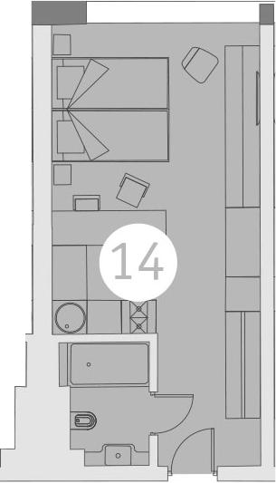 Студия, 27.03 м²