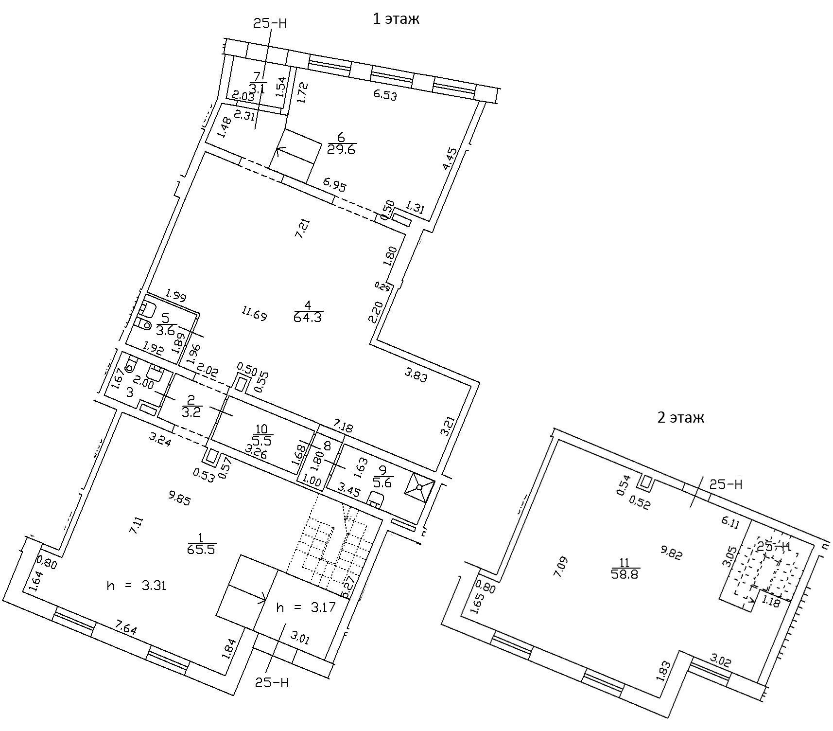 1-комнатная 247 м<sup>2</sup> на 1 этаже