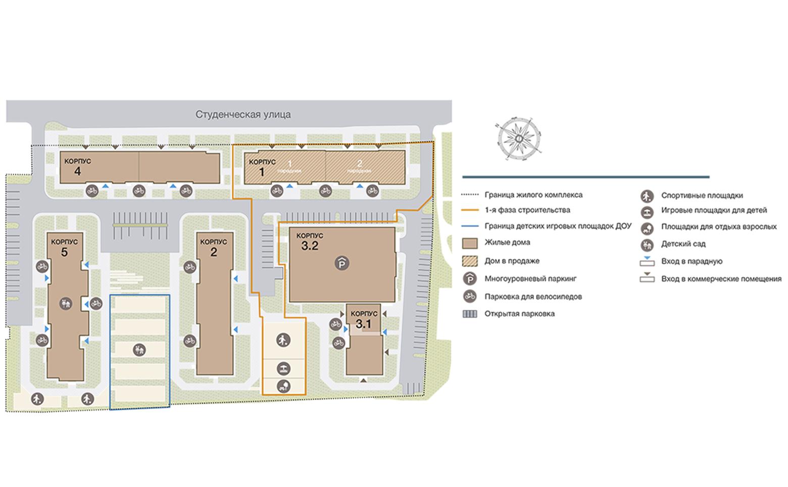 План жилого комплекса ЖК Тармо