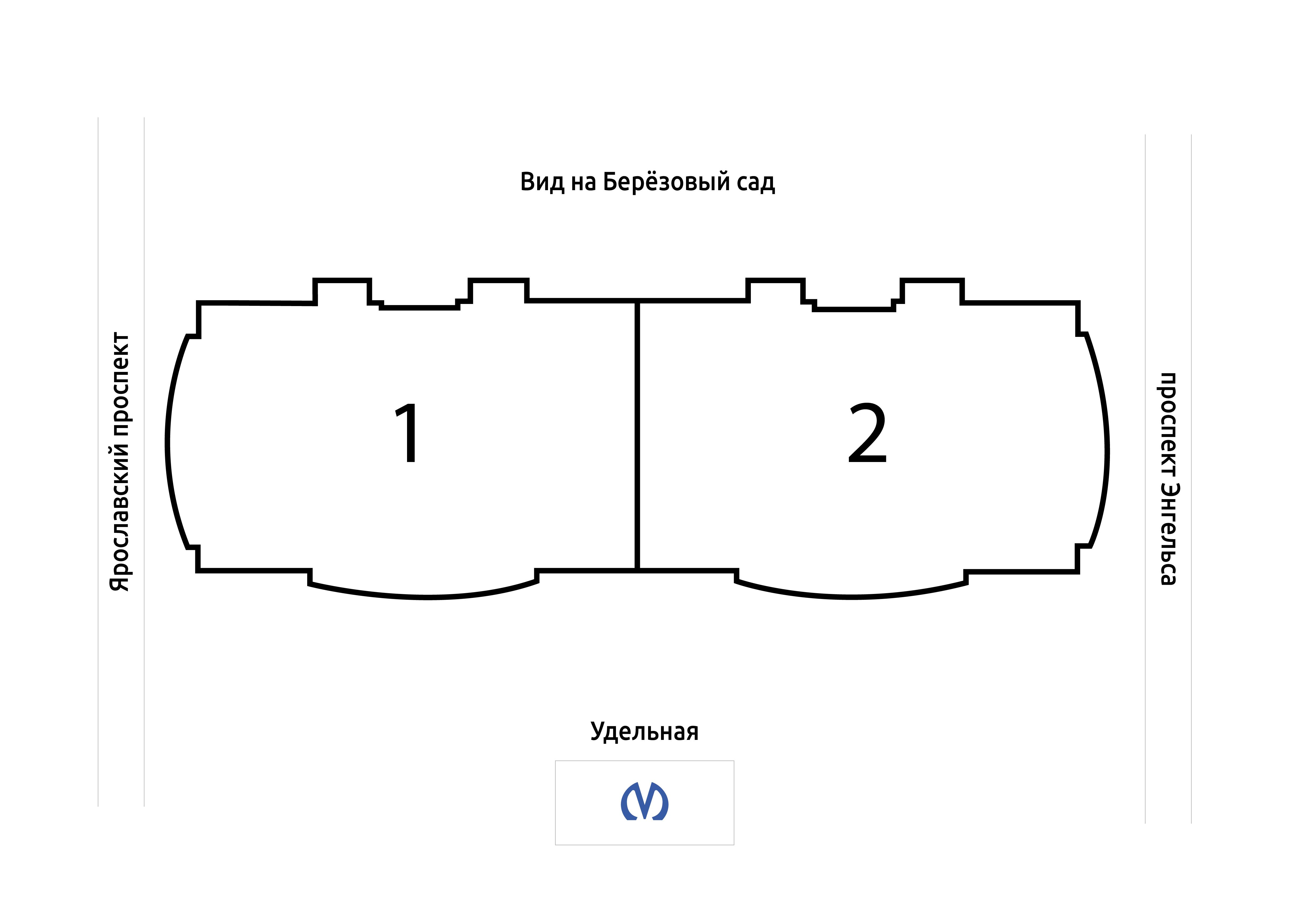План жилого комплекса ЖК Дом у Березового сада