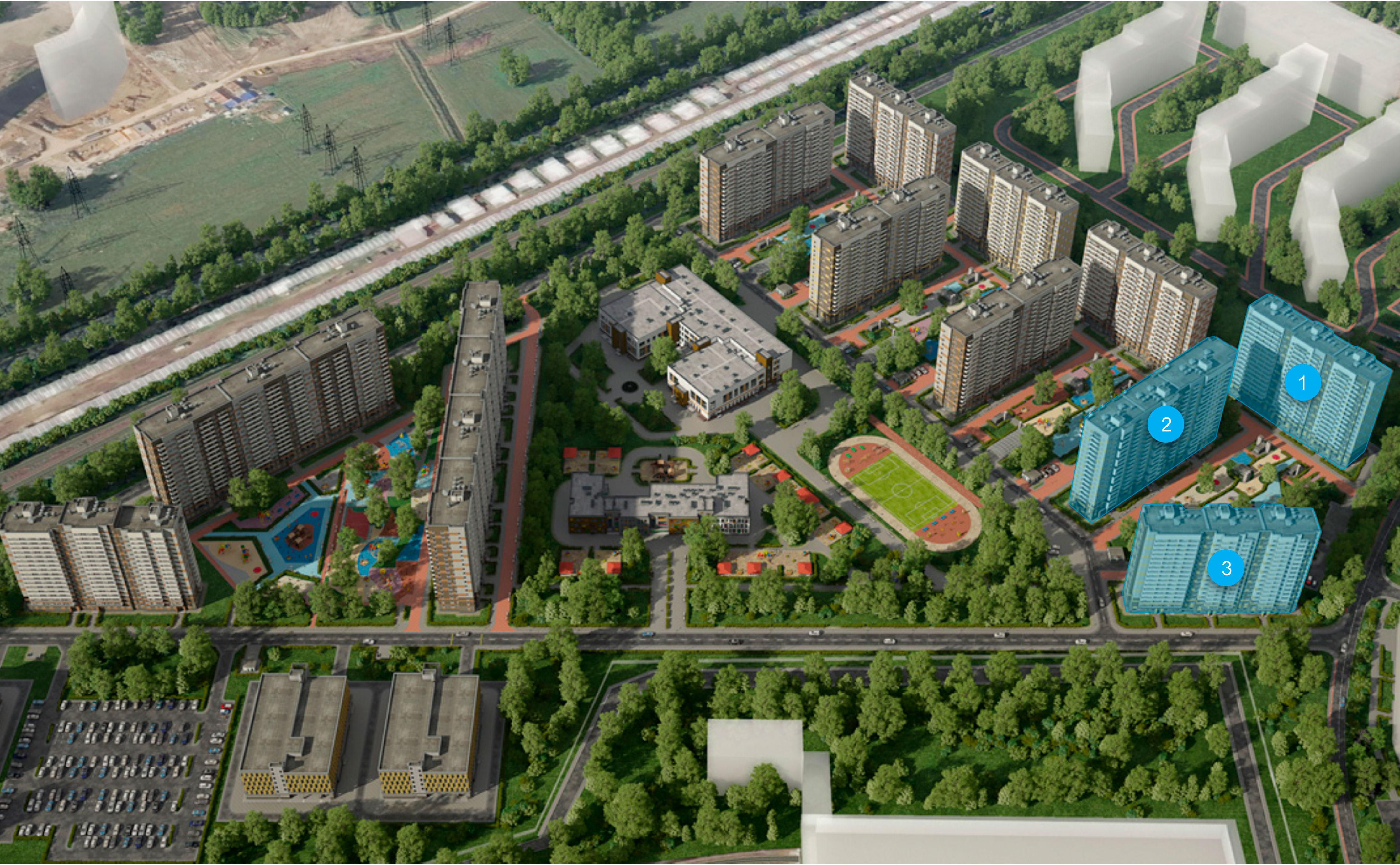 План жилого комплекса ЖК ЦДС Северный