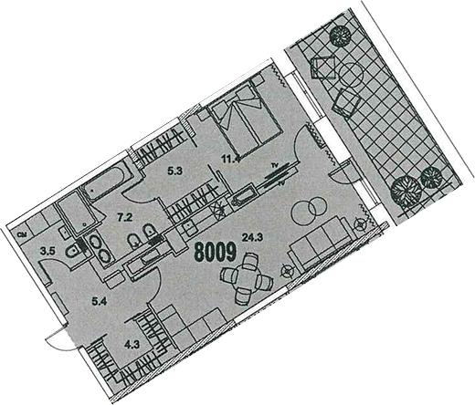 2-к.кв (евро), 63.65 м²