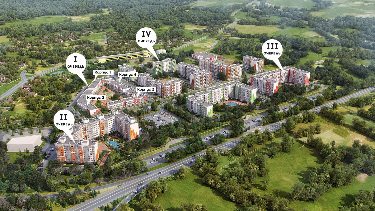План жилого комплекса ЖК Yolkki Village
