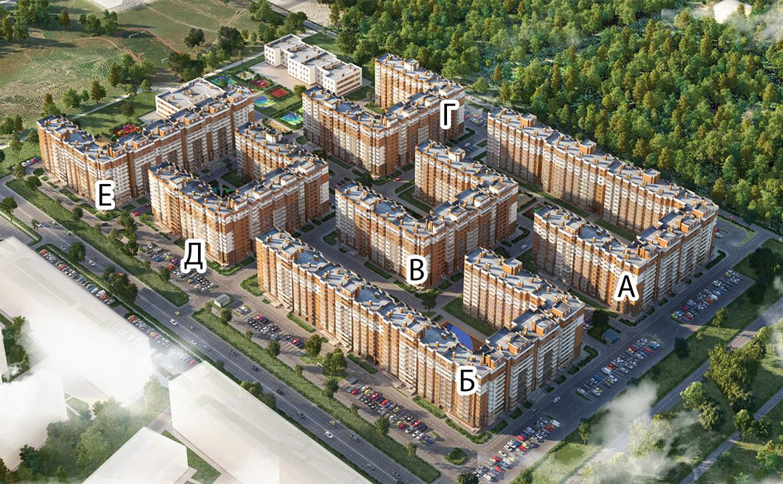 План жилого комплекса ЖК Новое Янино