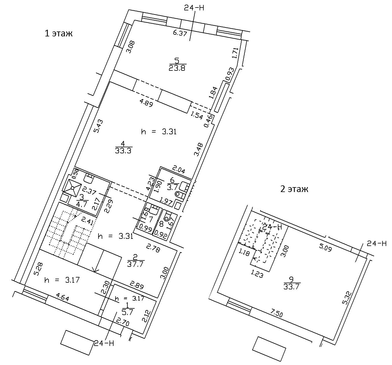 1-комнатная 151 м<sup>2</sup> на 1 этаже