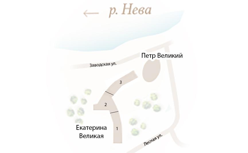 План жилого комплекса ЖК Петр Великий и Екатерина Великая