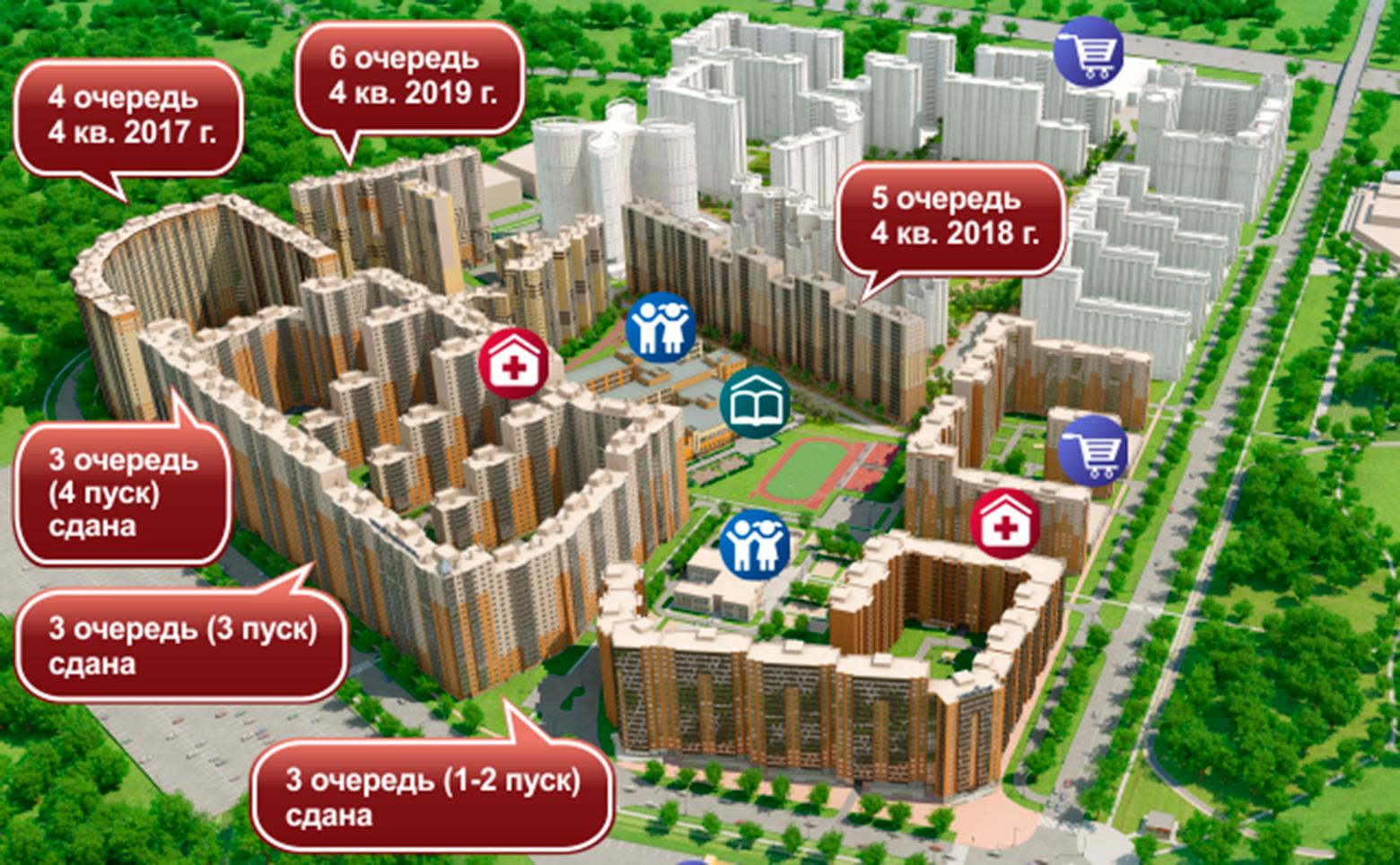 План жилого комплекса ЖК Новый Оккервиль