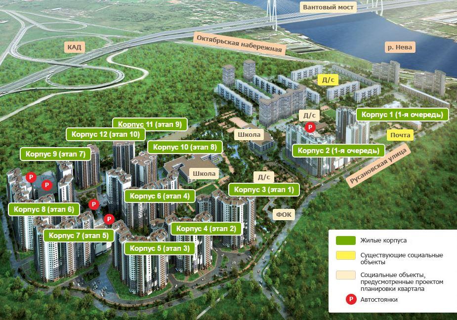 План жилого комплекса ЖК Ласточкино гнездо