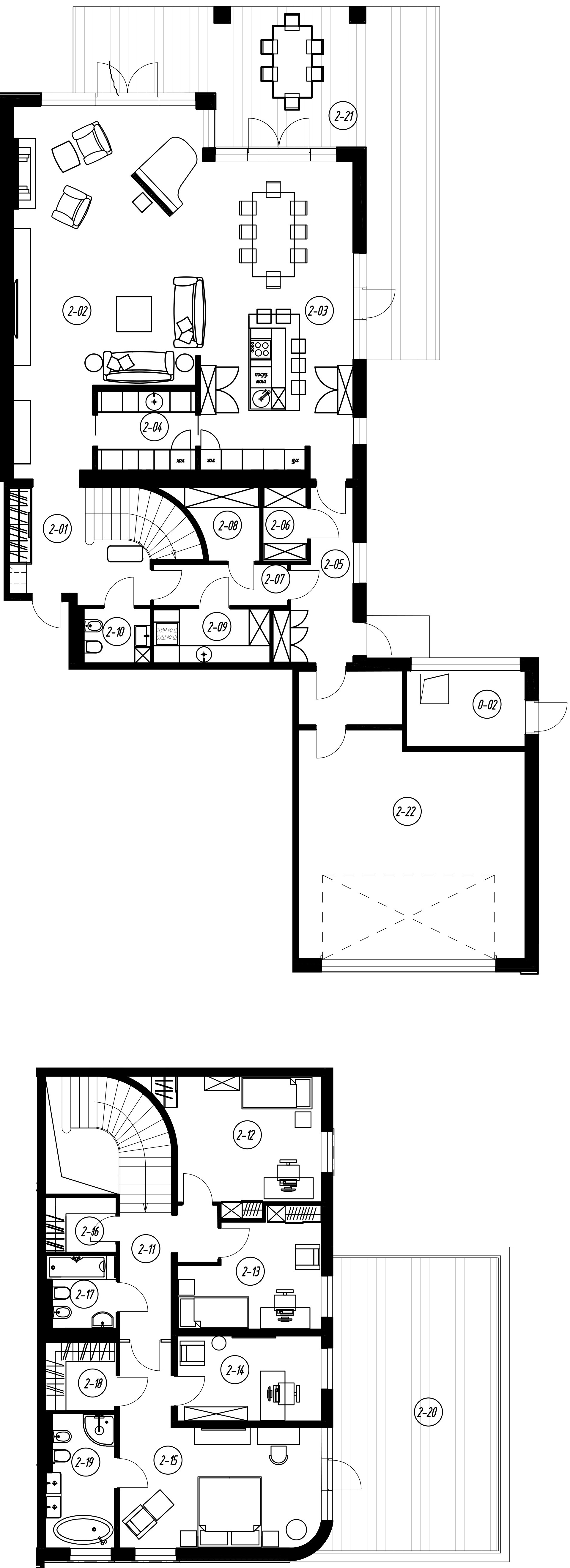 4-комнатная 357 м<sup>2</sup> на 1 этаже