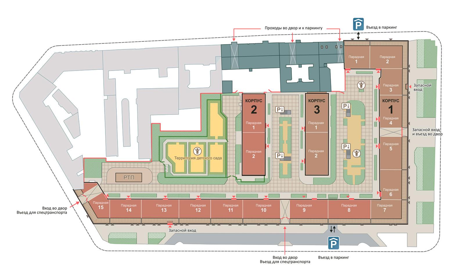 План жилого комплекса ЖК Смольный проспект
