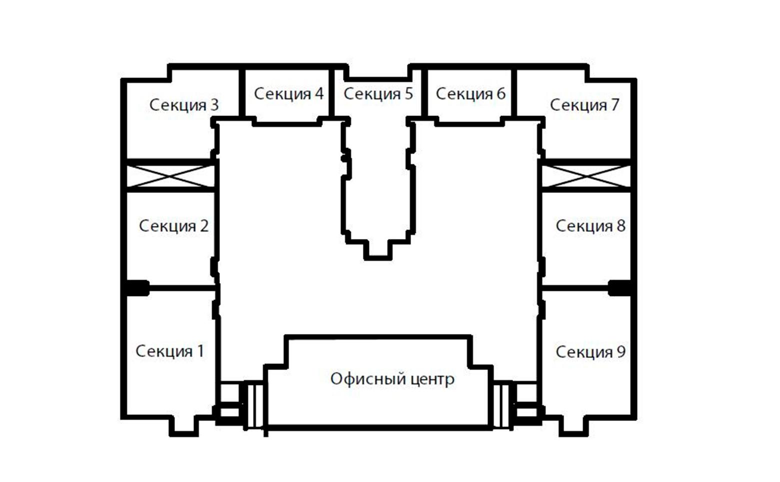 План жилого комплекса ЖК Морская звезда