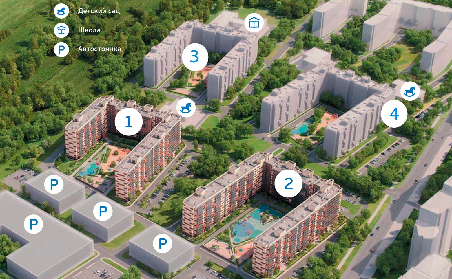План жилого комплекса ЖК Мурино 2017 - 2019