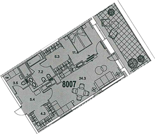 2-к.кв (евро), 66.35 м²