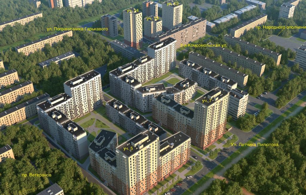 План жилого комплекса ЖК Сандэй