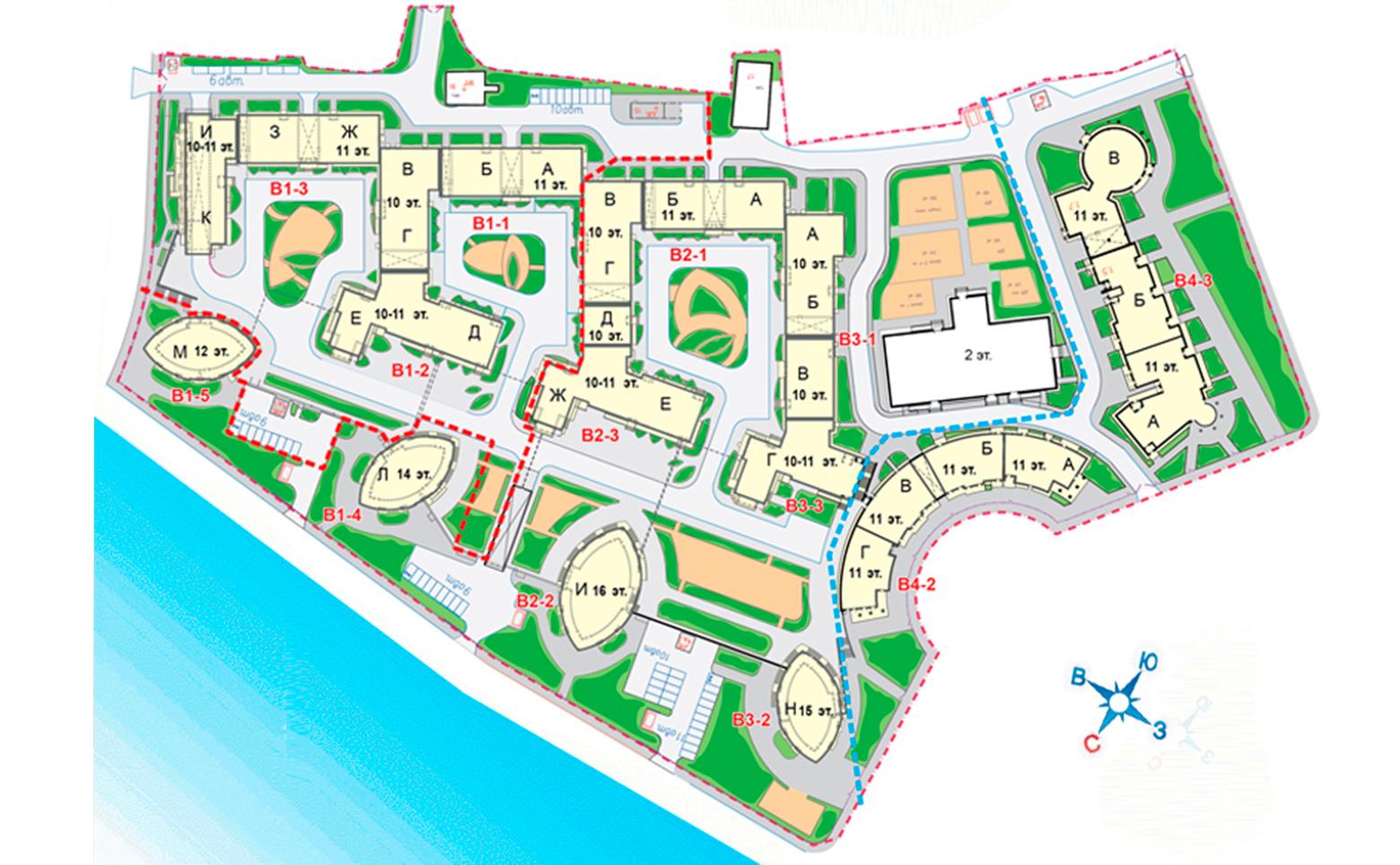 План жилого комплекса ЖК Премьер Палас