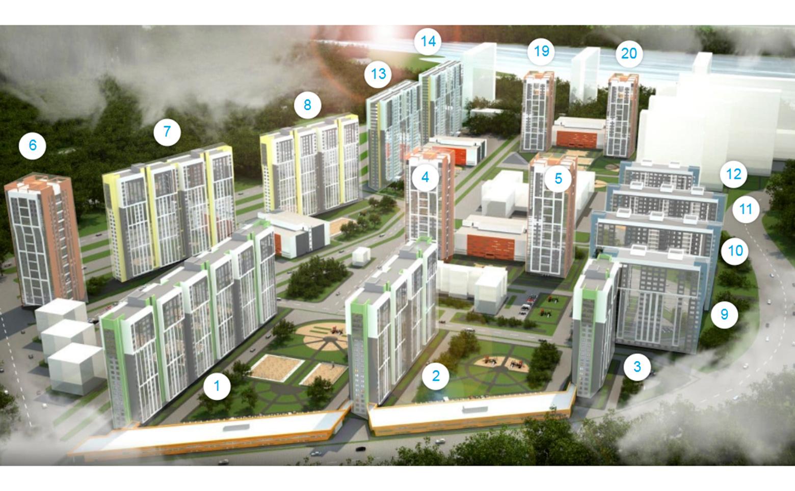 План жилого комплекса ЖК Шуваловский (NordEst)