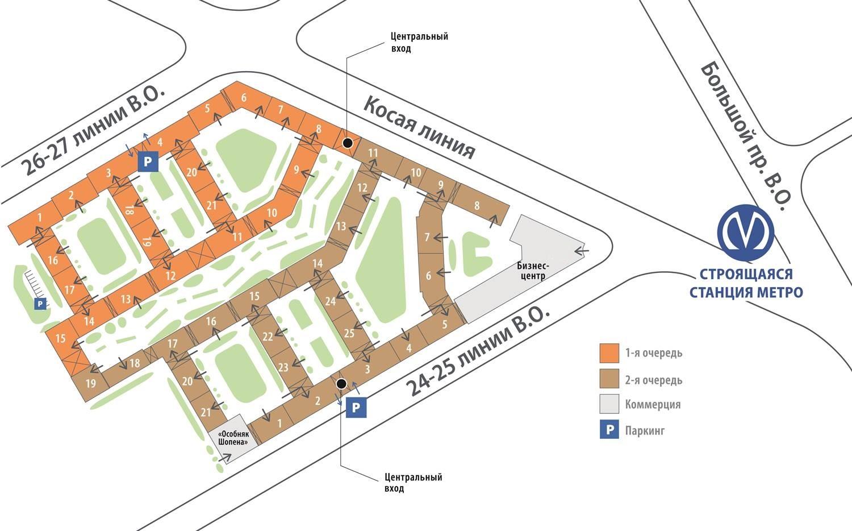 План жилого комплекса ЖК Палацио