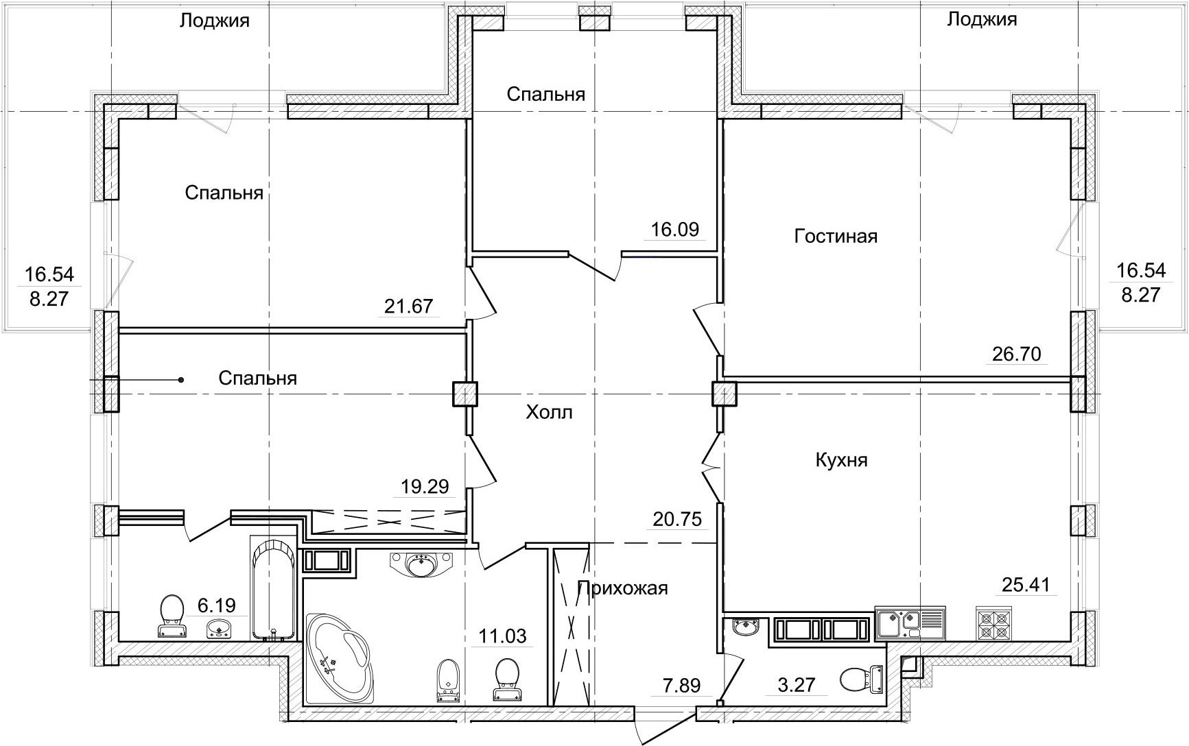 5-к.кв (евро), 186.84 м²