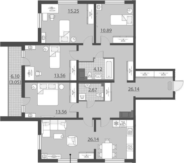 5-к.кв (евро), 118.63 м²