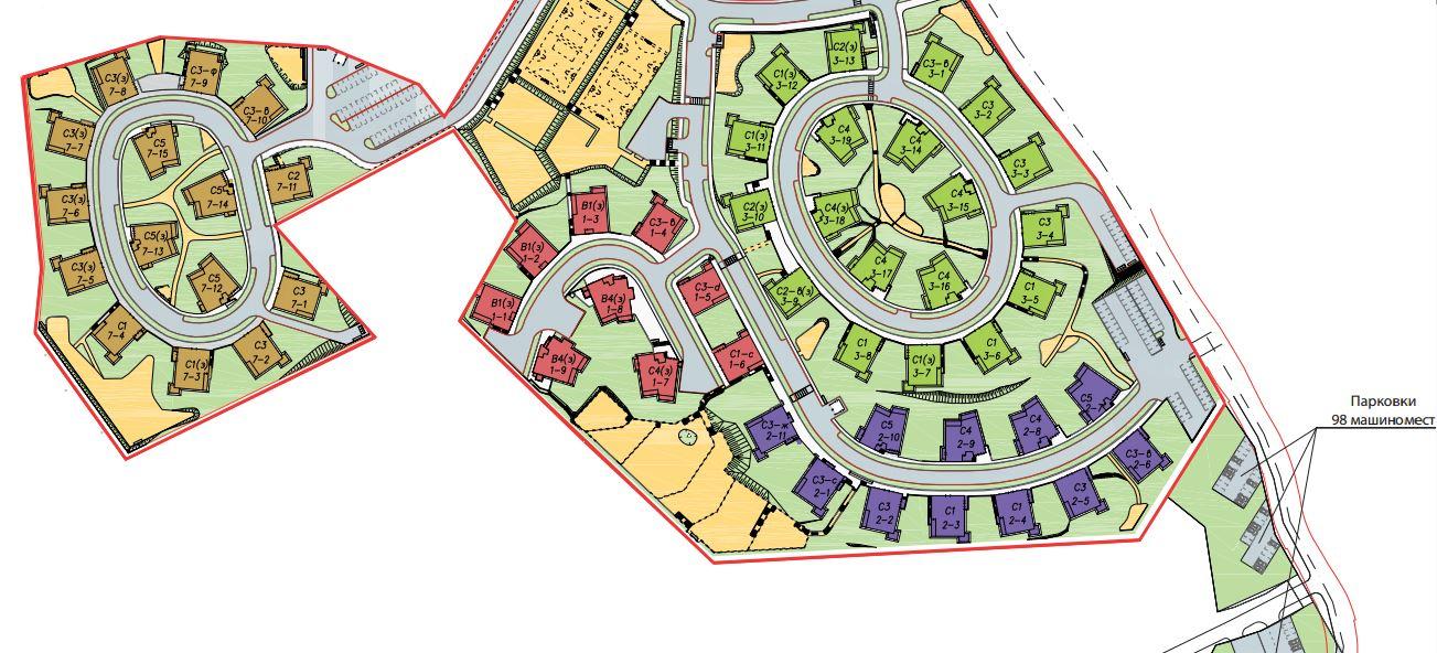 План жилого комплекса ЖК Mistola Hills